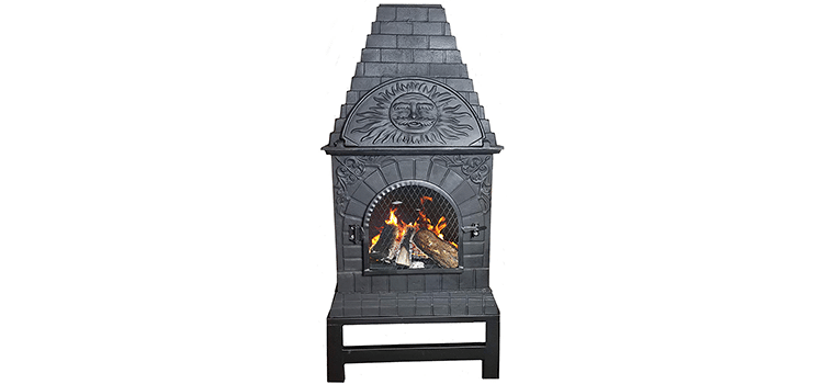 Blue Rooster Cast Iron Casita Chiminea