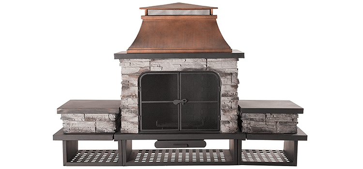 Sunjoy Bel Aire Fireplace With Table-flats