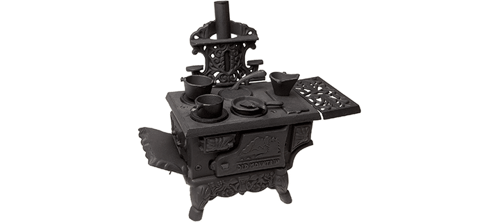Black Mini Wood Cook Stove Set