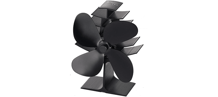 The Three Musketeers 4-Blade Heat Powered Wood Stove Fan