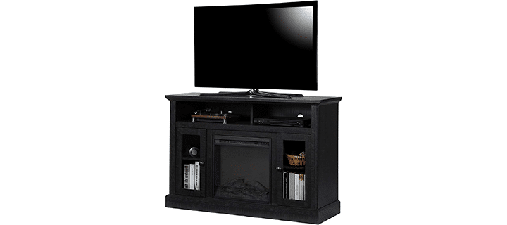 Ameriwood HomeBuilt-In Reflector Fireplace TV Stand
