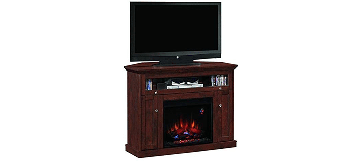 Classic FlameFlip Up Barrister Door Fireplace TV Stand