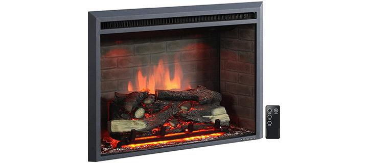 PuraFlame Brick Wall Design Fireplace