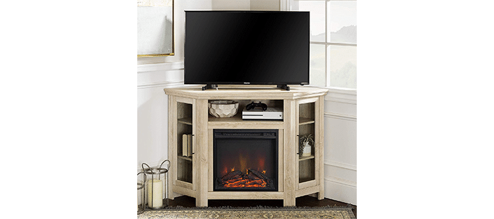 WE Furniture Durable Fireplace TV Stand