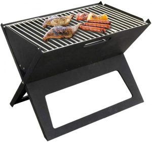 Foldable Triangular Charcoal Outdoor Grill