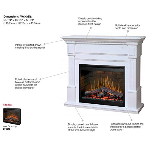 548 Dimplex Essex White Purifire Electric Fireplace GDS30L3 1086W 0 1