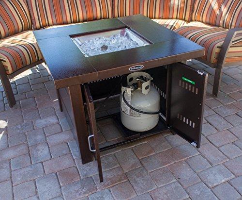AZ Patio Heaters GS F PC Propane Fire Pit 40000 BTU Square Antique Bronze Finish 0 2