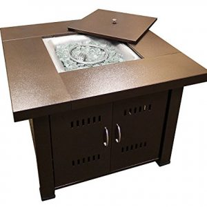 AZ Patio Heaters GS F PC Propane Fire Pit 40000 BTU Square Antique Bronze Finish 0