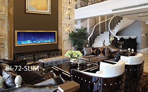 Amantii BI 72 SLIM Electric Fireplace 72 Wide x 6 34 deep 0 0