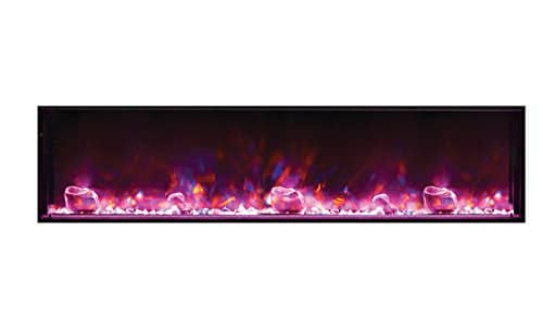 Amantii BI 72 SLIM Electric Fireplace 72 Wide x 6 34 deep 0 1
