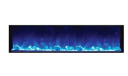 Amantii BI 72 SLIM Electric Fireplace 72 Wide x 6 34 deep 0 2