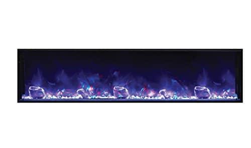Amantii BI 72 SLIM Electric Fireplace 72 Wide x 6 34 deep 0 3
