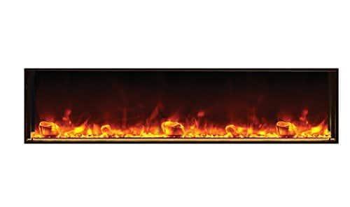 Amantii BI 72 SLIM Electric Fireplace 72 Wide x 6 34 deep 0