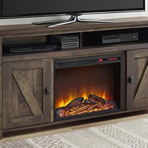 Ameriwood Home Farmington Electric Fireplace TV Console for TVs up to 60 Rustic 0