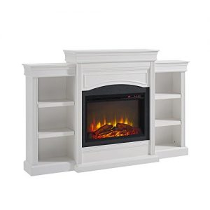 Ameriwood Home Lamont Mantel Fireplace White 0