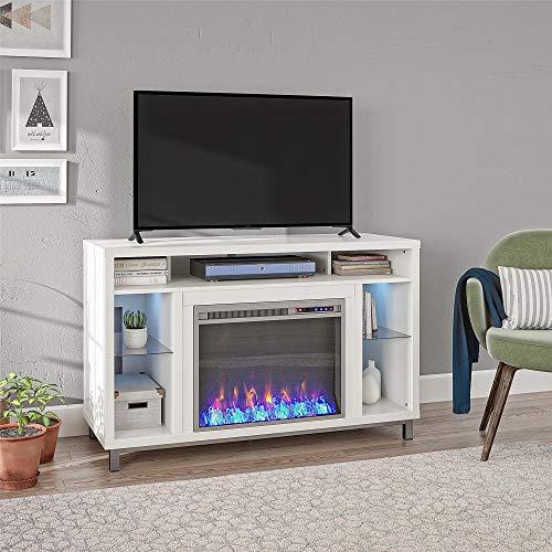 Ameriwood Home Lumina 48 White Fireplace TV Stand 0 0