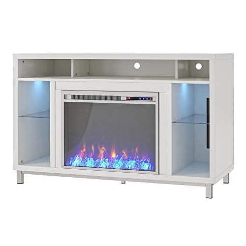 Ameriwood Home Lumina 48 White Fireplace TV Stand 0 2