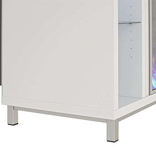 Ameriwood Home Lumina 48 White Fireplace TV Stand 0 3