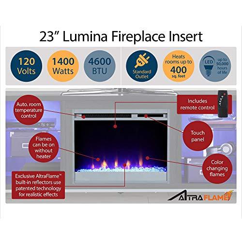 Ameriwood Home Lumina 48 White Fireplace TV Stand 0 4