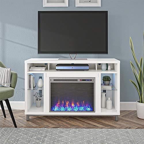 Ameriwood Home Lumina 48 White Fireplace TV Stand 0