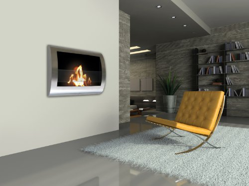 Anywhere Fireplace Chelsea Stainless Steel Wall Mount Fireplace 0 0