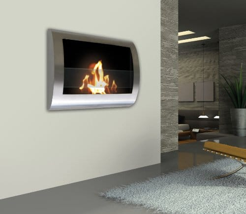 Anywhere Fireplace Chelsea Stainless Steel Wall Mount Fireplace 0 1