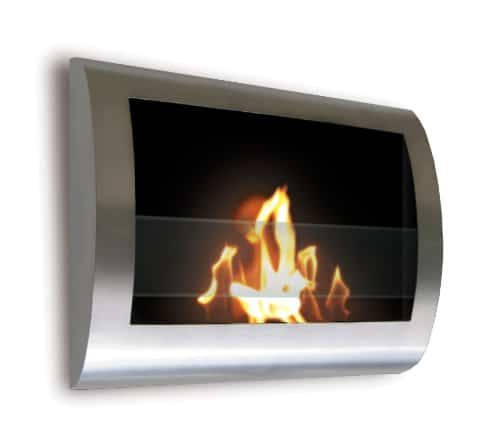 Anywhere Fireplace Chelsea Stainless Steel Wall Mount Fireplace 0
