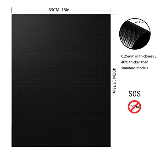 Aoocan Grill Mat Set of 5 Heavy Duty BBQ Grill Mats Non Stick BBQ Grill Baking Mats Reusable Easy to Clean Barbecue Grilling Accessories Work on Gas Charcoal Electric Extended Warranty 0 0