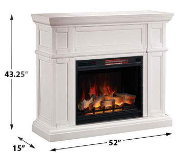 Artesian Infrared Electric Fireplace Mantel Package in White 0 0