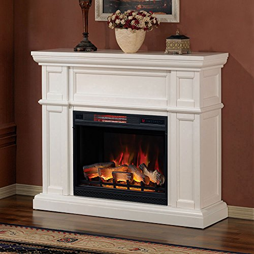 Artesian Infrared Electric Fireplace Mantel Package in White 0
