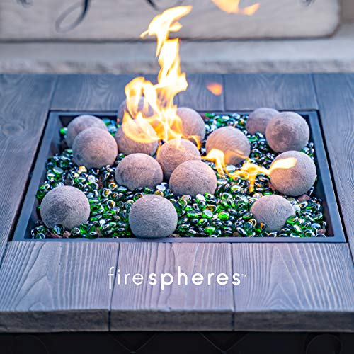 Bond Manufacturing Ceramic Fire Balls Set of 15 Fire Pit Fire Table Accessory for Indoor and Outdoor Fireplace 0 2