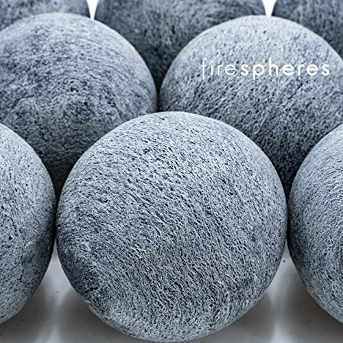 Bond Manufacturing Ceramic Fire Balls Set of 15 Fire Pit Fire Table Accessory for Indoor and Outdoor Fireplace 0 4