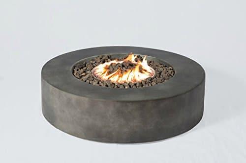 Century Modern Outdoor Fire Pit for Outdoor Home Garden Backyard Fireplace CM 1016G Round Shape Black Finish Size 12 H x 42 W x 42 D 0 0