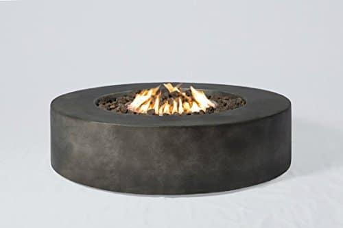 Century Modern Outdoor Fire Pit for Outdoor Home Garden Backyard Fireplace CM 1016G Round Shape Black Finish Size 12 H x 42 W x 42 D 0 1