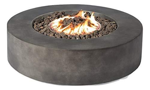 Century Modern Outdoor Fire Pit for Outdoor Home Garden Backyard Fireplace CM 1016G Round Shape Black Finish Size 12 H x 42 W x 42 D 0