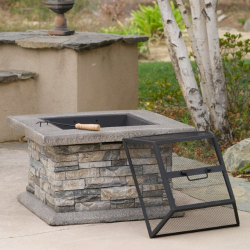 Christopher Knight Home Crestline Outdoor Fire Pit Natural Stone 0 0