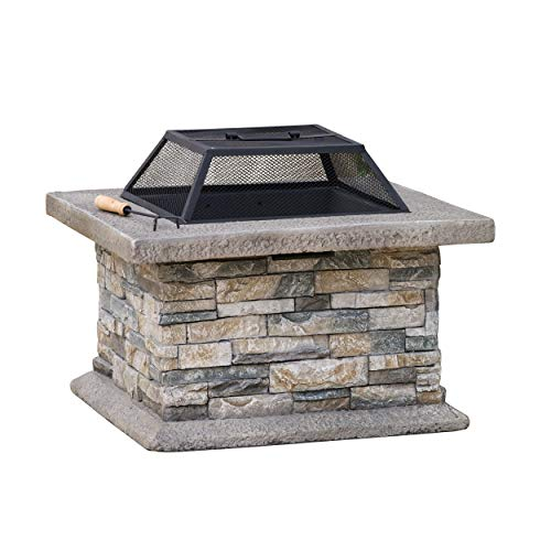 Christopher Knight Home Crestline Outdoor Fire Pit Natural Stone 0