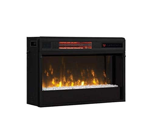 Classic Flame 26 in 3D SpectraFire Plus Infrared Fireplace Insert wGlass 26II342FGT 0 0