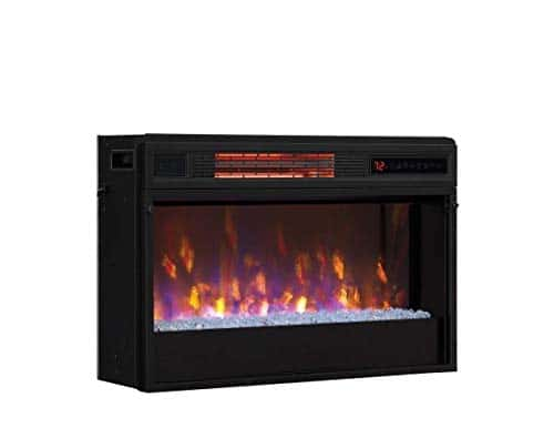 Classic Flame 26 in 3D SpectraFire Plus Infrared Fireplace Insert wGlass 26II342FGT 0 1
