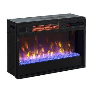 Classic Flame 26 in 3D SpectraFire Plus Infrared Fireplace Insert wGlass 26II342FGT 0