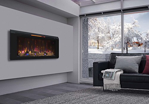 Classic Flame 48HF320FGT Helen 48 Black Wall Mounted Electric Fireplace 0 0