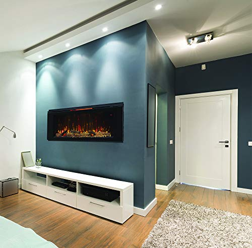 Classic Flame 48HF320FGT Helen 48 Black Wall Mounted Electric Fireplace 0 3