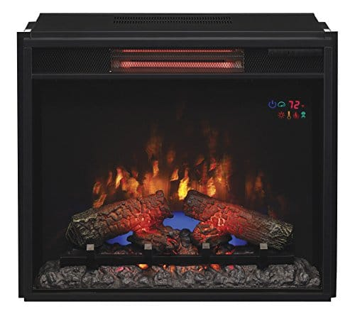 ClassicFlame 23II310GRA 23 Infrared Quartz Fireplace Insert with Safer Plug 0 0