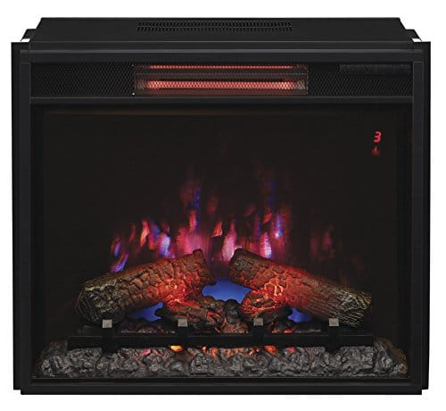 ClassicFlame 23II310GRA 23 Infrared Quartz Fireplace Insert with Safer Plug 0 1