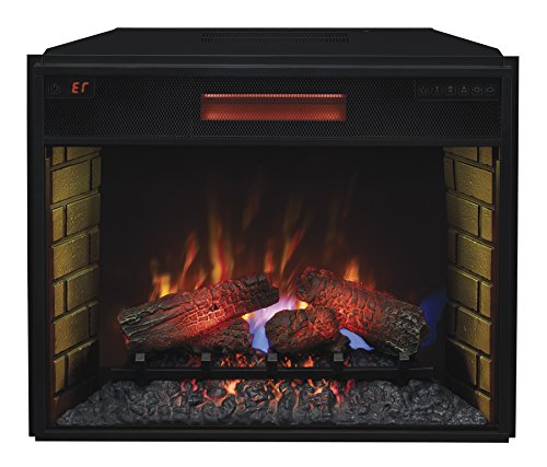 ClassicFlame 28II300GRA 28 Infrared Quartz Fireplace Insert with Safer Plug 0 1