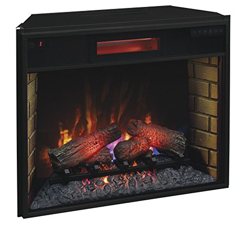 ClassicFlame 28II300GRA 28 Infrared Quartz Fireplace Insert with Safer Plug 0