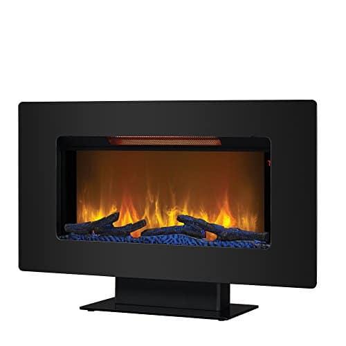 ClassicFlame 36II100GRG Elysium 36 Wall Mounted Infrared Quartz Fireplace Black Glass Frame 0 2