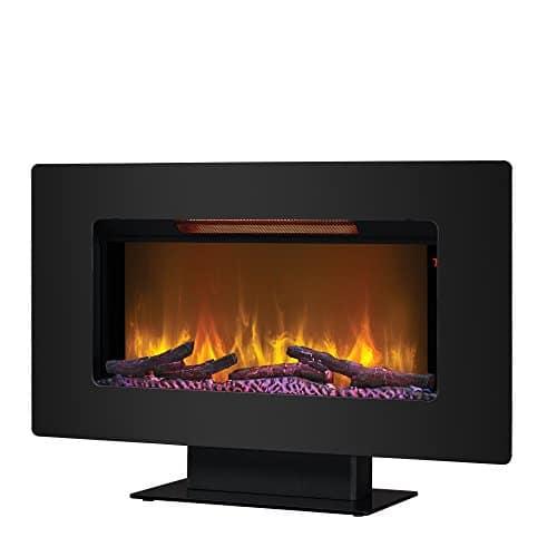 ClassicFlame 36II100GRG Elysium 36 Wall Mounted Infrared Quartz Fireplace Black Glass Frame 0 4