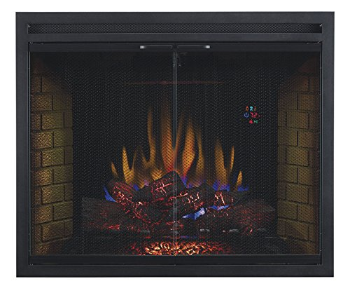 ClassicFlame 39EB500GRS 39 Traditional Built in Electric Fireplace Insert with Glass Door and Mesh Screen Dual Voltage Option 0 0