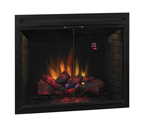 ClassicFlame 39EB500GRS 39 Traditional Built in Electric Fireplace Insert with Glass Door and Mesh Screen Dual Voltage Option 0 1